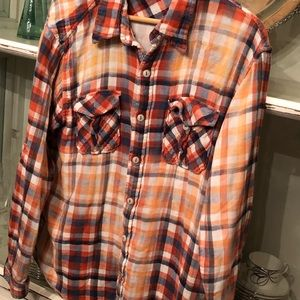 Men's True Grit Flannel shirt - large euc